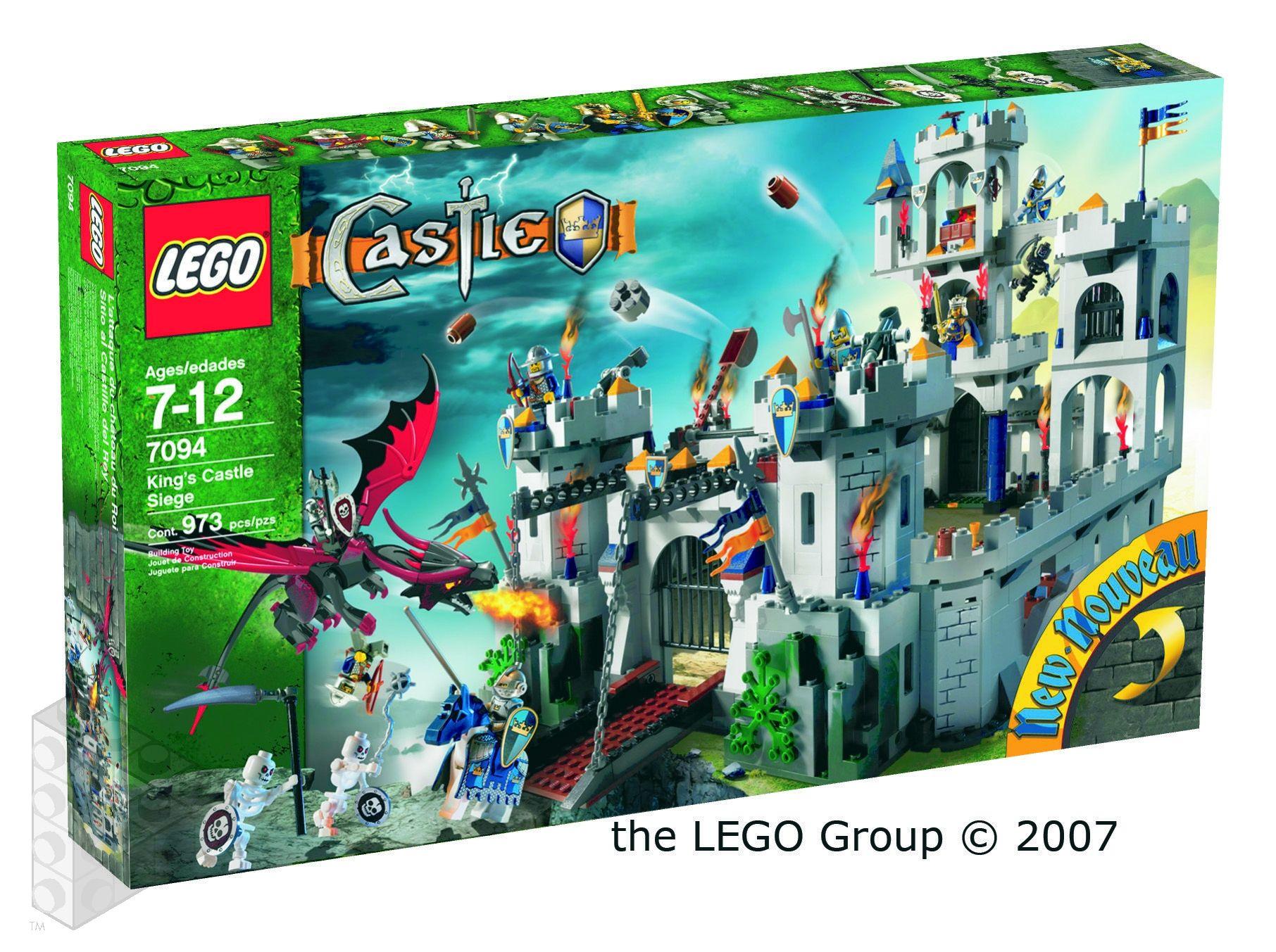 Lego System Castle Sets 2007 Skeleton Tower 7093
