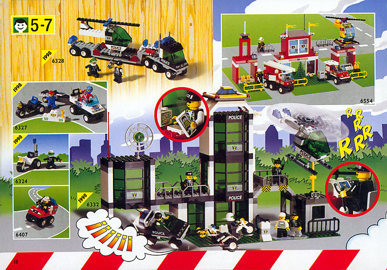 1998 LEGO Catalog 4112635/4112636-NA Pages 18-19